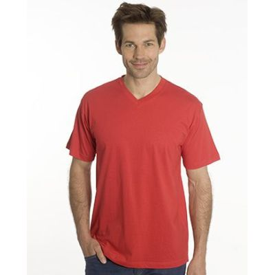 SNAP T-Shirt Flash Line V-Neck Unisex, rot, Gr. 5XL | 100103-800-04 / EAN:0651650570056