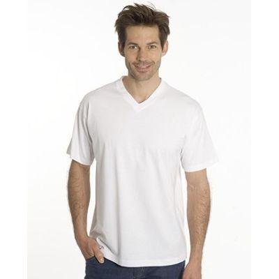 SNAP T-Shirt Flash Line V-Neck Unisex, weiss, Gr. 4XL | 100103-700-01 / EAN:0651650570056