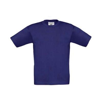 T-Shirt B&C Exact 190 Kids, Indigo, Gr. 104   11909419-100-94 / EAN:0651650571961