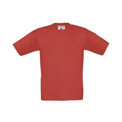 T-Shirt B&C Exact 190 Kids, Rot, Gr. 116   11900419-200-04 / EAN:0651650571961