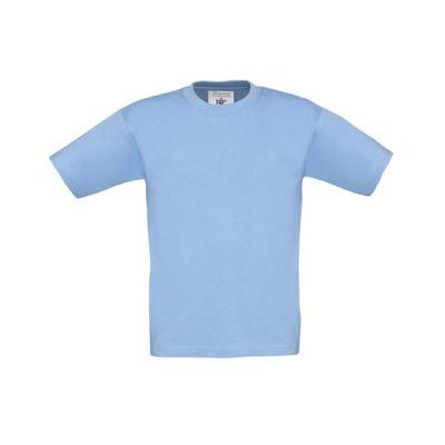 T-Shirt B&C Exact 190 Kids, Sky Blue, Gr. 116 | 11902219-200-22 / EAN:0651650571961