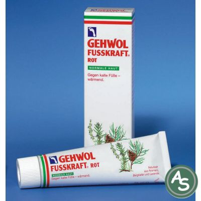 Gehwol Fußkraft Rot (Mildfettend, für normale Haut) - 75 ml | 5070 / EAN:4013474101025
