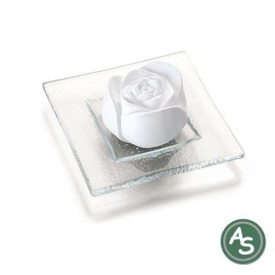 Primavera Duftstein Rosenblüte auf Glasteller | 5367 / EAN:4086900600812