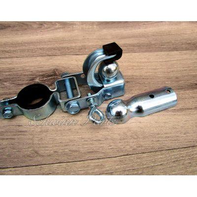 Fahrrad Anhängerkupplung für Fahrradanhänger komplett mit Zubehör Stahl verzinkt | 004 / EAN:4251217805810